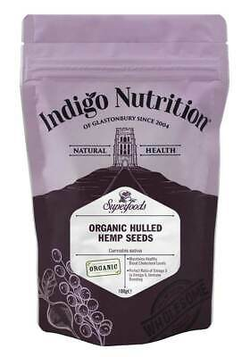 Indigo Herbs Organic Hulled Hemp Seeds 100g - 1kg Shelled Seed High Protein