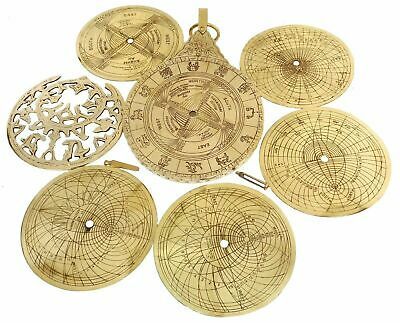 Nautical Shiny Brass Arabic Calendar Nautical Solid Brass Astrolabe Calendar