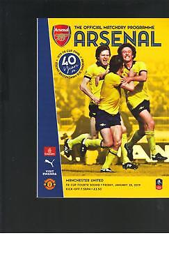 PROGRAMME - ARSENAL v MANCHESTER UNITED - FA CUP - 25TH JANUARY 2019