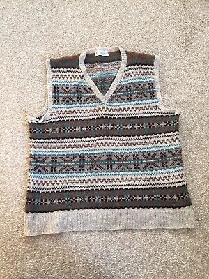 Vintage Tank Top Sleeveless Sweater Pattern Fair Isle 1940 Re-enactment Goodwood