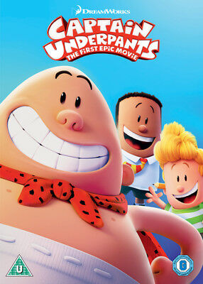 Captain Underpants: The First Epic Movie DVD (2018) David Soren ***NEW***