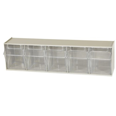 Akro-Mils 06705 TiltView Horizontal Plastic Storage System with Five Tilt Out ,