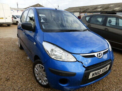2010 Hyundai i 10 1248cc 5 door met blue 68795 miles damage repairable