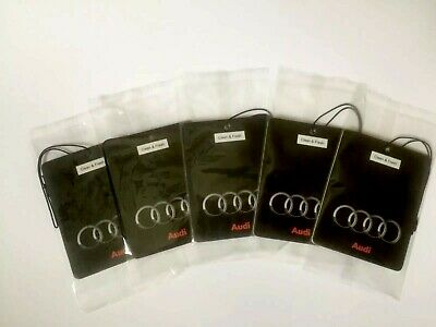 Audi Car Logo Air Freshener Double sided (DEAL!!!!! 5 for £10.00)