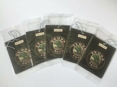 Skoda Car Logo Air Freshener Double Sided (DEAL!!!!! 5 for £10.00)