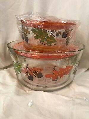 Temp-tations 3 Piece Nesting Glass Storage Set - Harvest (Orange)