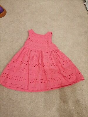 h&m baby girl dress 6-9 months red corsage occasion wedding chrismas