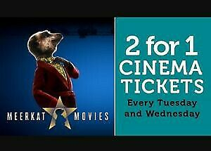 Meerkat Movies 2 For 1 Cinema Code *Instant!*VALID FOR 12/02/19 - 13/02/19