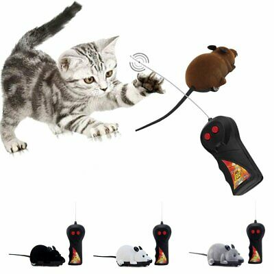 Wireless Remote Control RC Electronic Rat Mouse Mice Toy For Pet Cat Puppy Gift