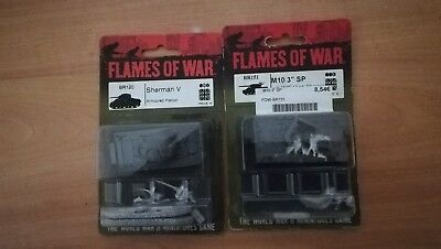 Lote británico Sherman V y Achilles, Flames of War, Battlefront,1/100 (15mm)