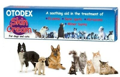 *Otodex Skin Cream Eczema Abrasions Hot Spots Minor Burns Wounds for Dogs & Cats