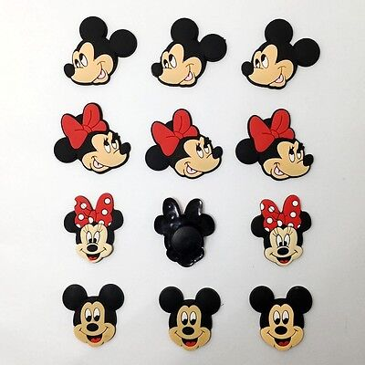 12pcs Micky Minnie Shoe Charms Accessories Fit for Clog Sandle/Bracelets Gifts