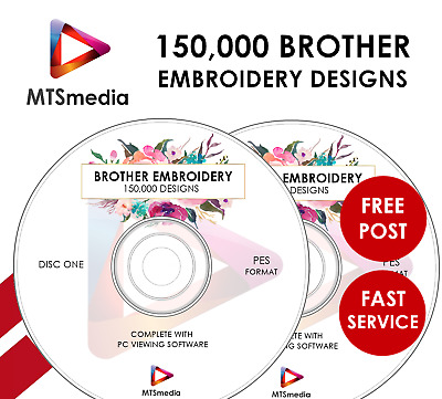 150,000+ Brother Embroidery designs Largest Collection on eBay PES