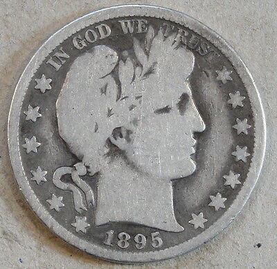 1895-O Barber Half Dollar G Old Rev. Scratch Between The Eagle's Left Wing and B
