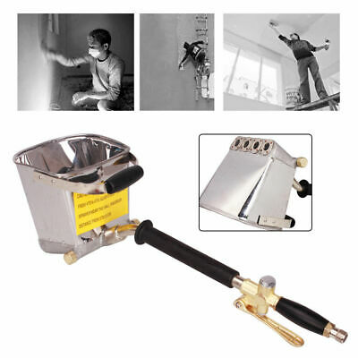 Air Cement Mortar Sprayer Stucco Plaster Hopper Spray Gun Wall Plastering Tool