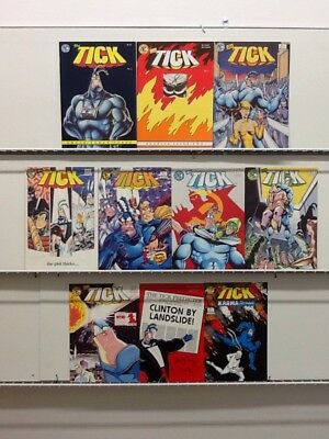The Tick By New England Comics #1 2 3 4 5 6 7 8 9 + Tick Predicter & More