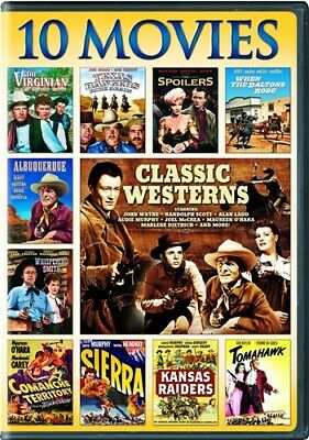 CLASSIC WESTERNS 10 MOVIE COLLECTION New 3 DVD Set John Wayne Randolph Scott