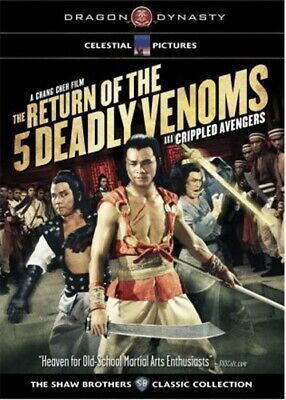 THE RETURN OF THE 5 DEADLY VENOMS New DVD aka Crippled Avengers Shaw Brothers
