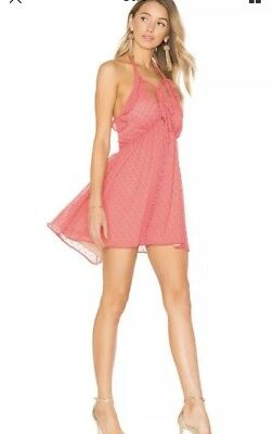 ef0b3817fa35 FOR LOVE   Lemons Tarta Tank Dotted Mini Dress - Flamingo - Sz S ...