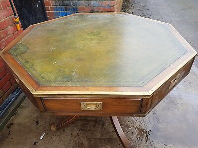 Antique Library drum table