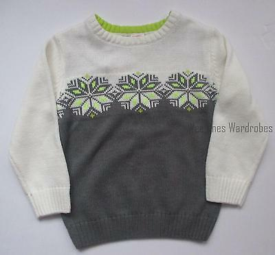 Gymboree Ice All-Star Ivory Grey Snowflake Pulllover Sweater Boys 4T NEW NWT