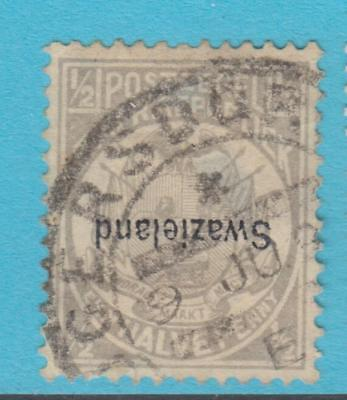 Swaziland 1 - Inverted Overpprint Used - Cat Value $700 - Thin Very Fine !