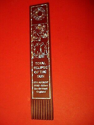 Leather Bookmark - Total Eclipse of the Sun (1999) - Excellent Condition