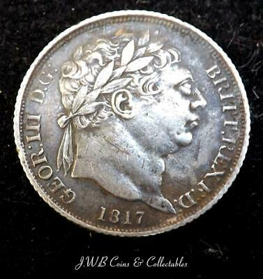 1817 George III Silver Sixpence Coin