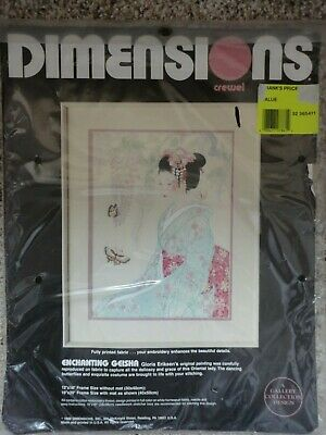"""""""Enchanting Geisha"""" Crewel Embroidery kit by Dimensions, 12"""" x 16"""""""