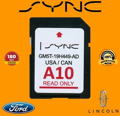 New Ford A10 U.s./Canada Sync 2019 Navigation Sd Card Map Update Gm5T-19H449-Ad