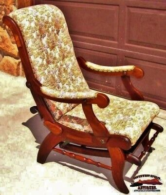 1880's Walnut Sleepy Hollow Reclining Chair with Foot Rest