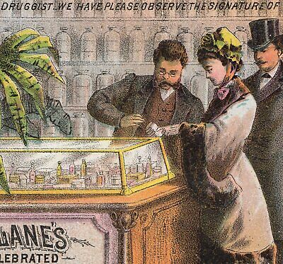 Drugstore Counter 1800's Dr McLanes Liver Pills Cure Medicine Advertising Card