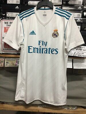 c53b3c5b1 ADIDAS REAL MADRID Home Jersey 2017-18 White Blue Size EXTRA LARGE ...