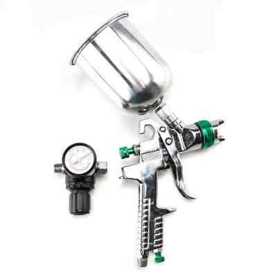 600CC 2.5mm HVLP Spray Gun Gravity Feed Gauge Flake Primer Nozzle High Quality