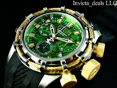 Invicta Reserve Men's 50mm Bolt Swiss Chronograph Abalone Dial Gold Tone Watch