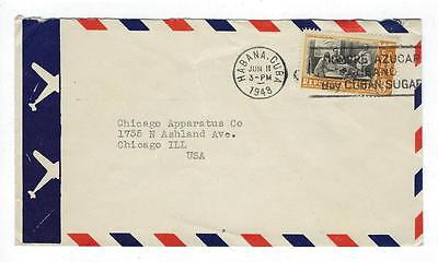 1948 Caribbean Airmail Cover To USA With Scott # C38 (#I42)