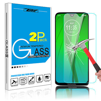 For Motorola Moto G7 Power/Play 100% Tempered Glass Screen Protector Clear Film