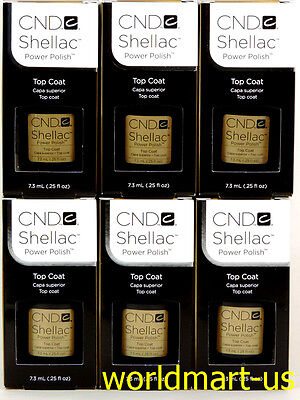 CND Shellac GelColor UV/LED: 6 Top Coat 0.25fl.Oz