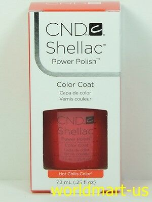 CND Shellac GelColor UV/LED: #40507_Hot Chilis 0.25fl.Oz