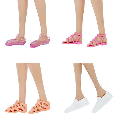 4 Daily Ballet Flats Shoes Sandal Accessories For 12 in. Doll Clothes Lovely T