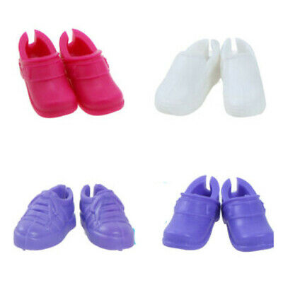 4 Pink Purple Girlish Flats Shoes Boots Sandal Accessory For 12 in. Doll Clothes