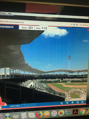 1-5 BOSTON RED SOX vs TAMPA BAY RAYS SPRING TRAINING SUN, 3/17 SECT 221 ROW 8
