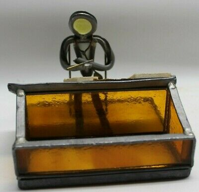 Stained Glass Surgeon Doctor Figure Folk Art Stethoscope Unique 1 of a kind