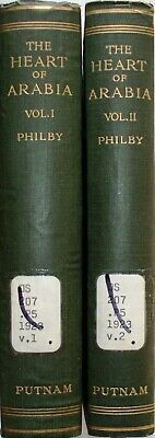 Philby - The Heart of Arabia - A Record of Travel & Exploration 2 VOLUME HB SET