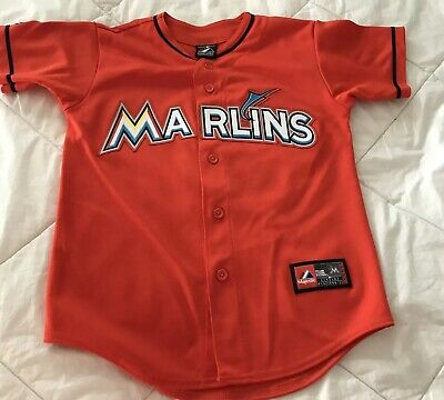 8761cb7f9 ... order giancarlo stanton 27 miami marlins majestic orange jersey youth  size m mlb a891a ab59a