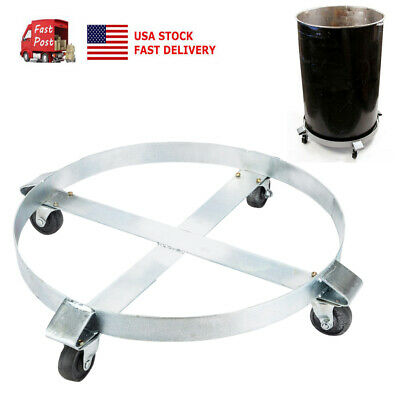 US Heavy Duty Drum Dolly 1000 lb Swivel Casters Wheel  Steel Frame Non Tipping