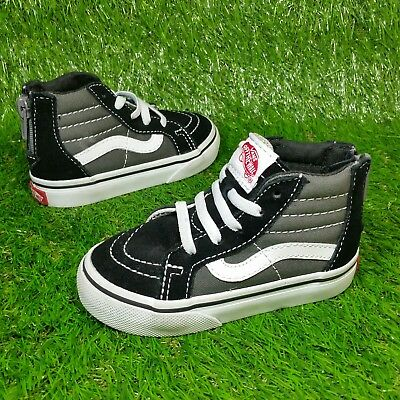 0b56bc67155 Vans SK8 Hi Zip (Toddler Size 6) Canvas Skate Zip Up Sneaker Shoes Black