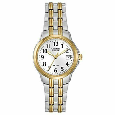 CITIZEN EW1544-53A WOMEN S Eco Drive Silhouette Two Tone Date Arabic ... c01dce140