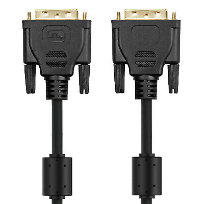 DVI-D 24+1 Dual Link Male Digital Video Cable Gold Plated Support 1080p 6 Feet