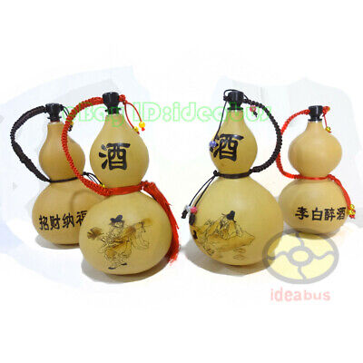 "(7.8""~9.5""tall)Potable Natural Real Dried Wine Bottle Gourd Type decor ornaments"